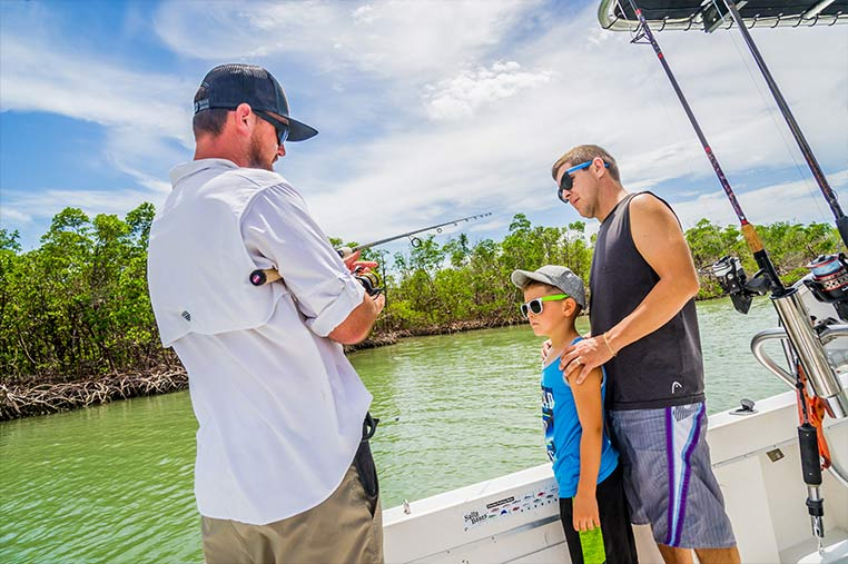 Experienced Captains on our Marco Island Backwater Fishing Charter | Florida Adventures and Rentals