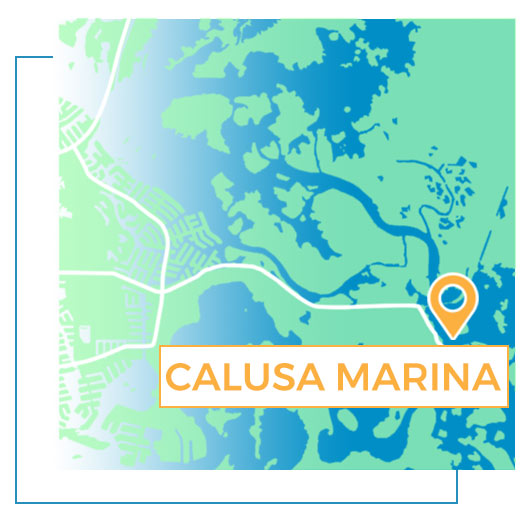 Calusa Marina Map | Florida Adventures and Rentals