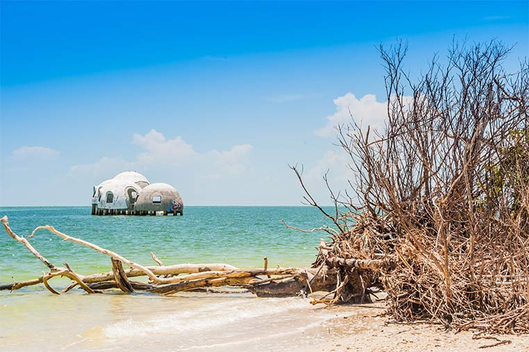 See the Cape Romano Dome Homes on our Marco Island Eco Tours | Florida Adventures and Rentals