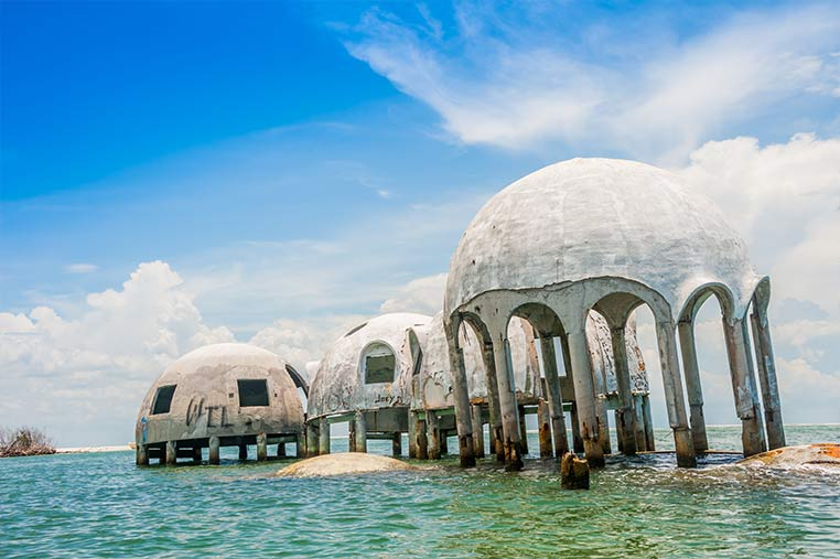 See the Dome Homes on our Marco Island Shelling Tours | Florida Adventures and Rentals