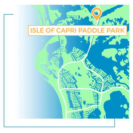 Isle of Capri Paddle Park Map | Florida Adventures and Rentals