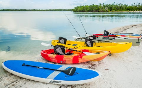 Large selection of kayaks and paddleboards for rent on Marco Island | Florida Adventures and Rentals