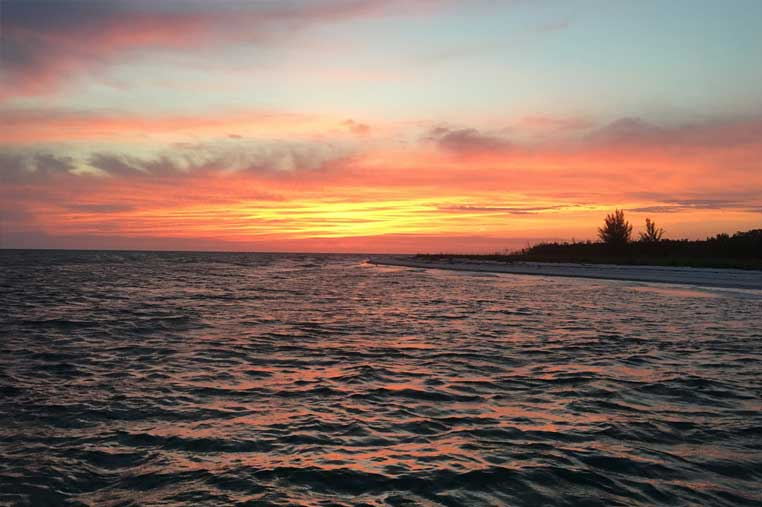 private beach sunset boat tour on Marco island | Florida Adventures and Rentals