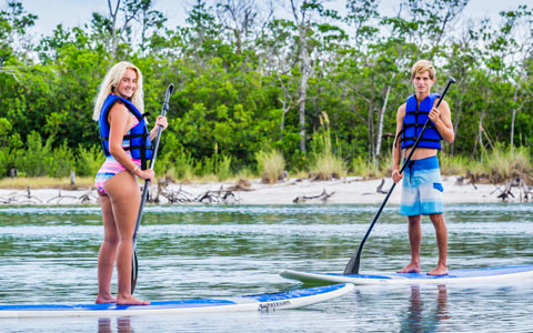 Having fun with our Marco Island Paddleboard Rentals | Florida Adventures and Rentals